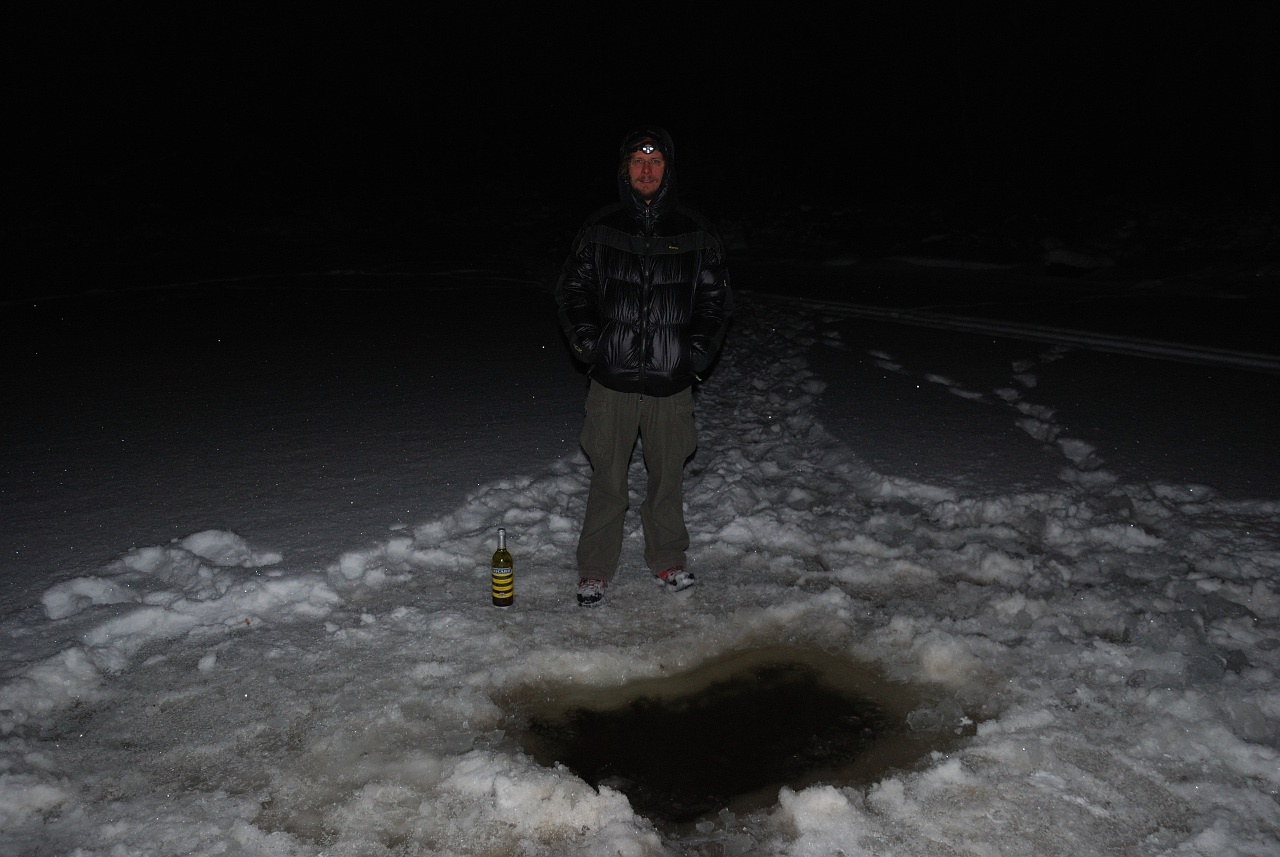 Icehole in the River