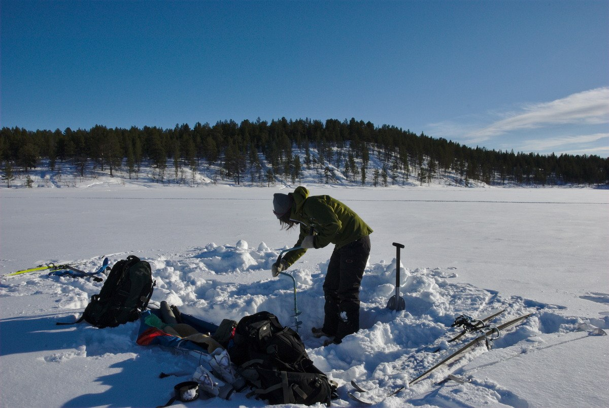 Ice Fishing on Lake Ounasjärvi
