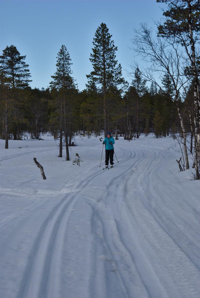 Skiing to Rautujärvi