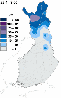 Snow cover map