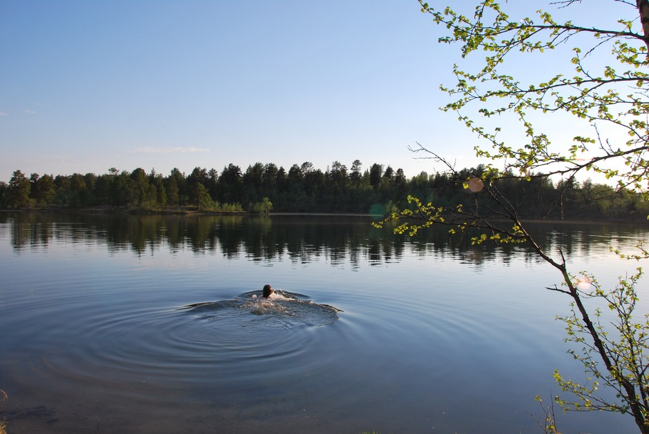 Swimming near Leppäjärvi