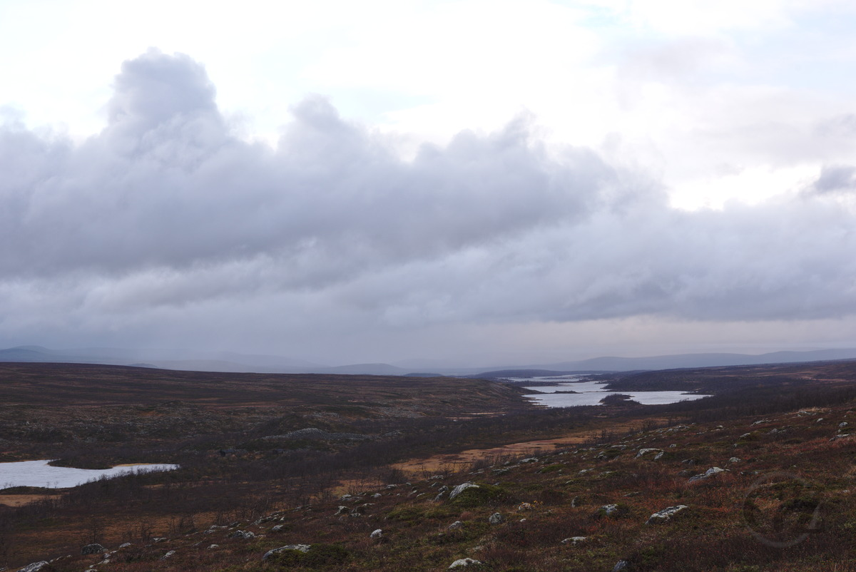 Lakes in tundra area embedded in-between fells