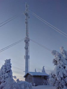 frozen mobile phone tower