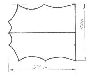 sketch of tarp pattern