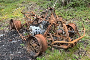 burned out ATV